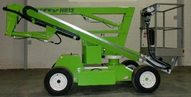 green cherry picker
